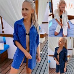 Пляжная накидка-рубашка 13504A