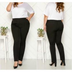 Женские брюки с карманами Батал 13524A