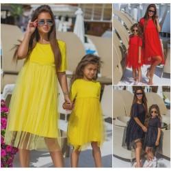 Детское летнее платье с сеткой 13546-1A
