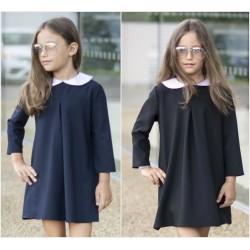 Детское школьное платье с воротником 13636A