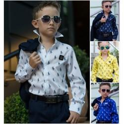 Детская школьная рубашка 13679A