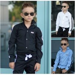 Детская школьная рубашка 13680A
