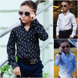 Детская школьная рубашка 13682A