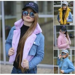 Детская джинсовая куртка-трансформер 13697A