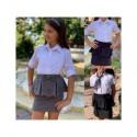 Детская школьная юбка с бантиком 13709A