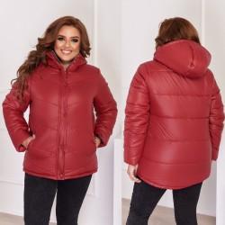 Женская куртка с капюшоном Батал 13864A