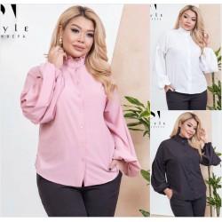 Женская блуза рукава фонарики Батал 13874A