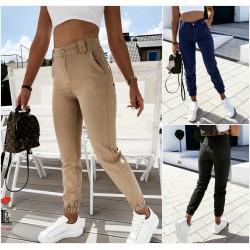 Женские джинсовые брюки с манжетами 13900A