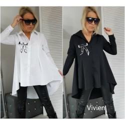 Женская рубашка удлиненная сзади Батал 13914A