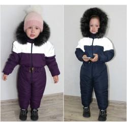 Детский зимний комбинезон с мехом 13953A
