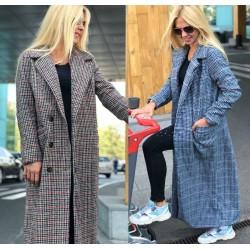Женское кашемировое пальто в клетку 13986A