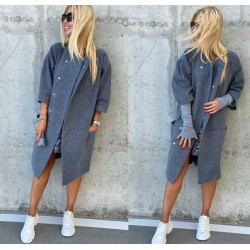 Женское кашемировое пальто на кнопках 13988A