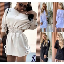 Стильное платье-туника на резинке 13998A