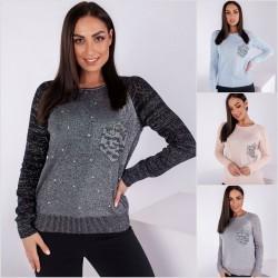 Женский вязанный свитер Батал 14036A