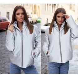 Женская светоотражающая куртка на змейке 14134A