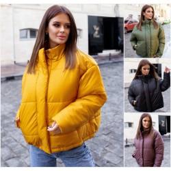 Женская свободная куртка с карманами 14135A
