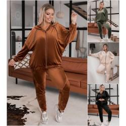 Женский велюровый спортивный костюм Батал 14164A