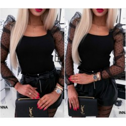 Женская блуза с прозрачными рукавами 14194A