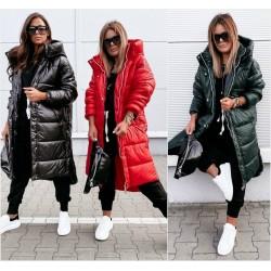 Женское зимнее пальто с капюшоном 14396A