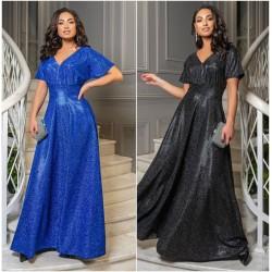 Нарядное длинное блестящее платье 14399A
