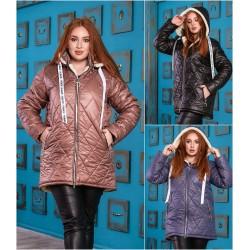 Женская зимняя куртка с капюшоном Батал 14421A