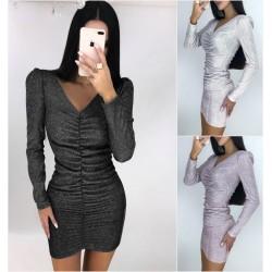 Вечернее облегающее платье люрекс 14467A