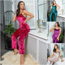 Женская бархатная пижама двойка 14516A