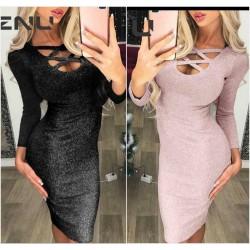 Вечернее облегающее платье люрекс 14530A