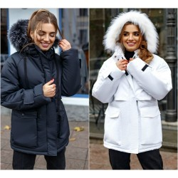 Женская куртка-парка с карманами 14534A
