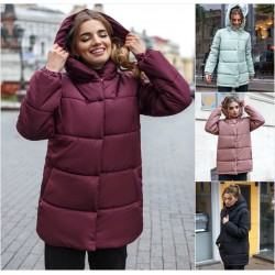 Женская зимняя куртка с капюшоном 14535A