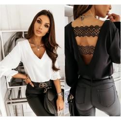 Женская блуза с кружевом 14568A