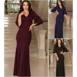 Вечернее длинное блестящее платье 14577A
