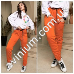 Женские теплые спортивные штаны 14616A