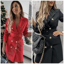 Женское платье-пиджак с поясом 14626A