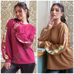 Женская нарядная кофточка с лампасами Батал 14692A