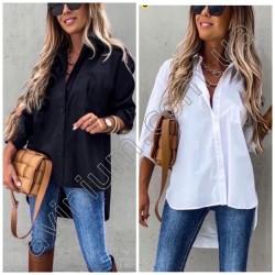 Женская рубашка удлиненная сзади Батал 14693A