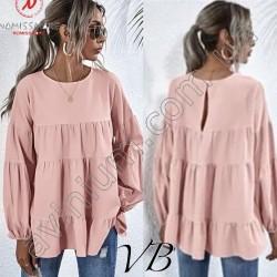 Женская блуза рукава фонарики 14715A