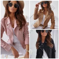 Женская замшевая куртка-косуха 14762A