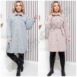 Женская удлиненная кашемировая рубашка 14798A
