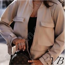 Женская демисезонная куртка-бомбер 14800A