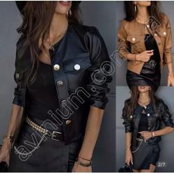 Женская короткая куртка Экокожа 14831A