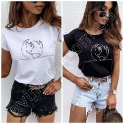 Женская футболка Принт 14862A