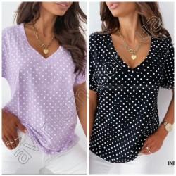 Женская блуза в горох 14869A