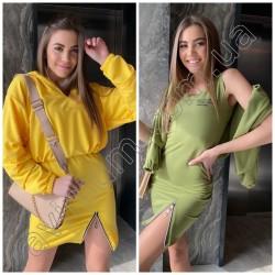 Женский комплект платье с кофточкой 14881A