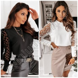 Женская блуза рукава горох 14524A
