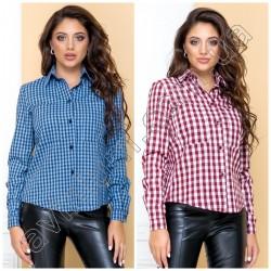 Женская рубашка в клетку 14931A