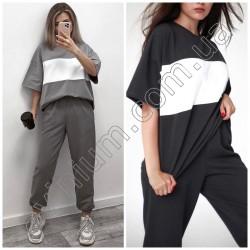 Женский костюм футболка со штанами 15016A