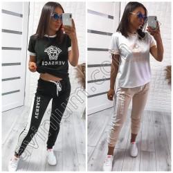 Женский костюм футболка со штанами 15008A