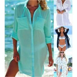 Пляжная накидка-рубашка 11060A