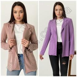 Женский удлиненный пиджак с карманами 15055A
